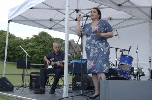 Konni Deppe singing and Martin Slade playing guitar at the High Town Fun Day in Luton on 11th June 2011